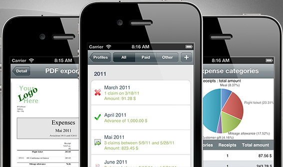 iExpenses Pro, manage all your reimbursements for iPhone & iPad