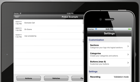 iLogger Pro, general purpose logging program for iPhone & iPad
