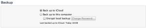 FAQ - iTunes backup