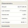 Smoothing loan characteristics
