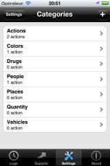 Customize categories