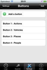 Customize buttons