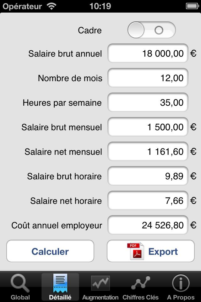 salaire net brut pro presse jp software