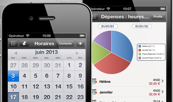 Feuille de temps, suivre les horaires de travail pour iPhone et iPad