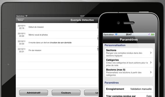 iRapport Pro, saisie de notes avancées pour iPhone et iPad