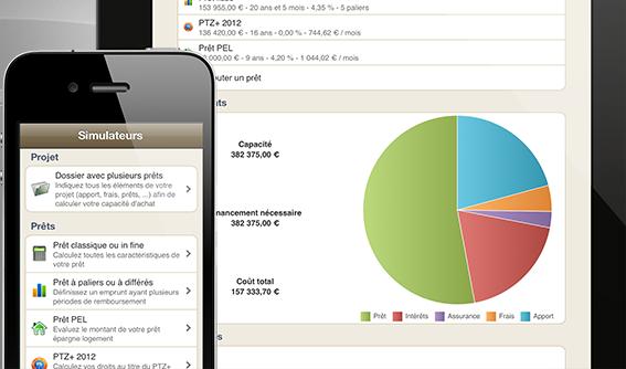 Mes Prêts, simulation d\'emprunt immobilier et de crédit à la consommation pour iPhone et iPad