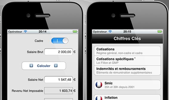 Salaire net / brut (Pro), évaluez votre paie pour iPhone et iPad