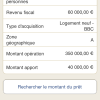 Recherche de montant prêt PTZ+